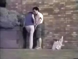 These two amateur random people had a quickie in public place