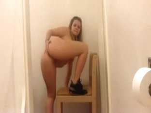 School girl stripping on camera