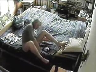 Mamma Caught Masturbating on Hidden Webcam