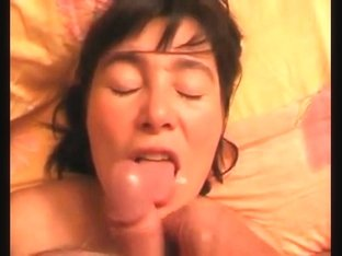 Mature whore sucks my fat hammer