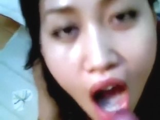 Diminutive Indonesian hottie gives head and swallows the cum