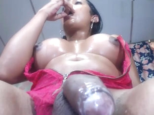 Big boobs black shemale huge cum