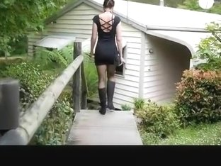 Woman gets home and gets naked