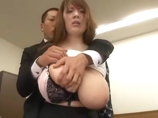 Exotic Japanese whore Hitomi Tanaka in Crazy Fingering, Office JAV clip