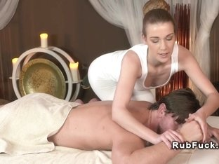 Masseuse fucking oiled dick nuru blowjob