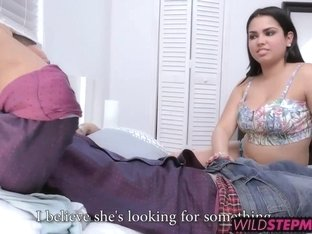 Diamond Kitty fucked his cock while Ada sucked on her boobs