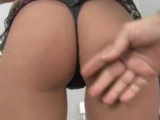 Mia strips her bikini off, then sucks a dick