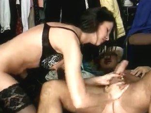 Sexy Dark Brown Shop-Manager Receive's Drilled