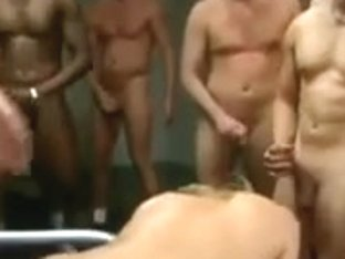 Golden-Haired witch need a gang group sex