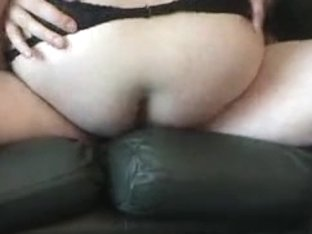 Chav older wench drilled on couch
