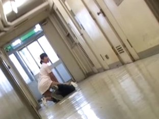 Deceived by kinky man nurse gets her skirt pulled up
