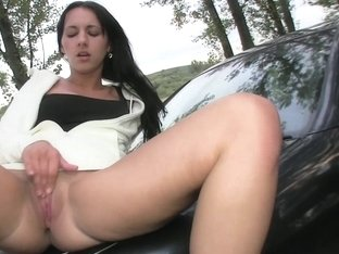 PublicAgent: Brunette Hotty Gets Laid on my Car