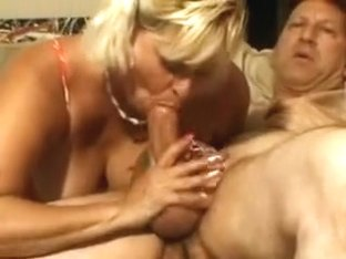 Kinky blonde with saggy tits has a hairy cunt yearning for a hard dick