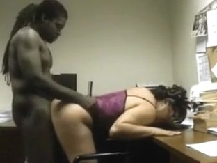 Masked bitch sucks my black sausage and enjoys it hard from behind