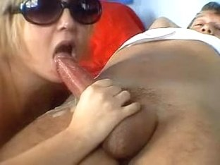 Chubby wife in sunglasses gets cum