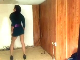My super sexually concupiscent GF knows how to dance for me in front of a camera