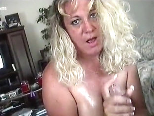 Blond mother i'd like to fuck engulfing my strapon with enthusiasm