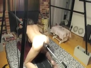 Tranny Granny With Anal Fucking Machine