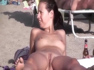 A pretty shaved nudist pussy