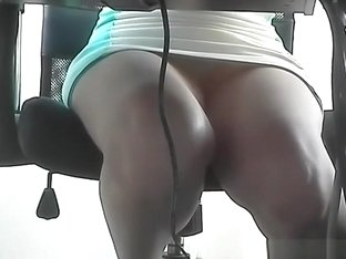 Upskirt on co-worker legs and panties