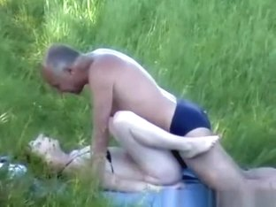 Old man fucking his redhead hairy wife
