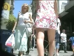 Gorgeous ass milf in public up skirt with a naughty ass