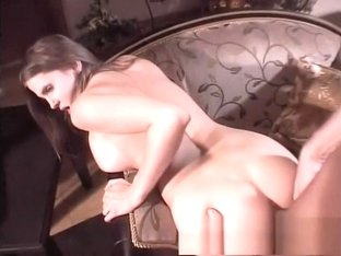 Buxom girl with a fabulous ass needs a hard cock drilling her snatch