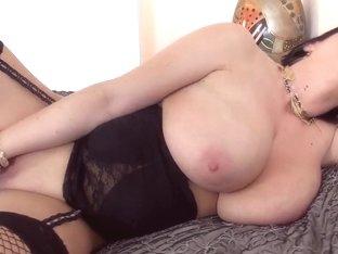 Beautiful sappy woman is masturbating well