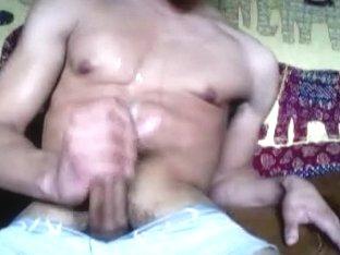Hawt body male self jizz flow