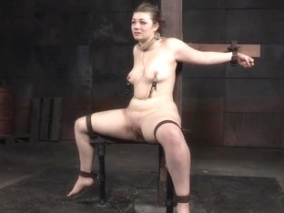 Restrained Harley Ace flogged and whipped