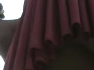 Amazing upskirt video with a swallowed thong of a sexy babe
