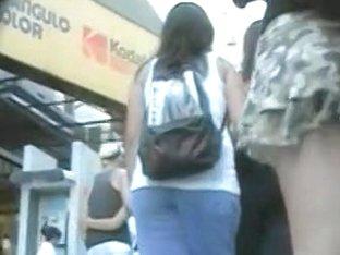 Hidden spy cam gives us a look under her skirt