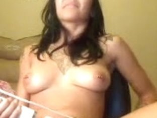 White vibrator stimulates well her awesome pussy
