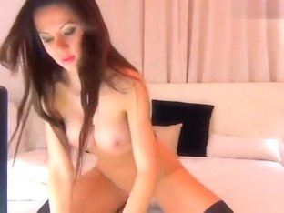 Brunette babe Veroniquee rides a sex toy