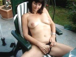 My wife masturbating outdoors