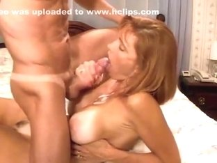 cum in big titted matures mouth and tits