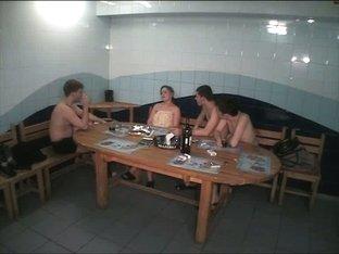 Voyeur cam in sauna