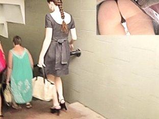 Strap panty upskirt movie