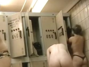 Fantastic women undressing in the public changing room