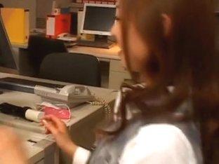Sarasa Hara Lovely Japanese office lady