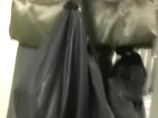 Asian sharking video showing white panties on a cute gal