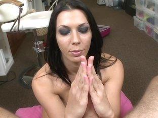 Rachel Starr worships cock