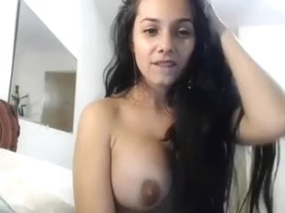 Sexy Colombian Young Brunette Girl Masterbates