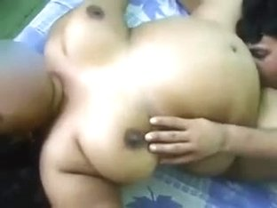 Indian Chubby Aunty's Pussy Eaten and BJ