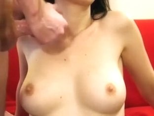 Here another time I jack off and cum on the perfect whoppers of my wife