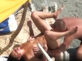 I filmed nasty swingers on the beach