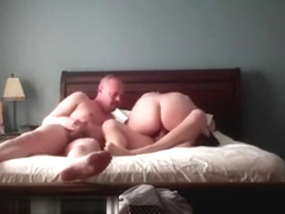 Two guys sharing one tight cunt