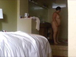 Fat Chrissy total nude in hotel room in Florida