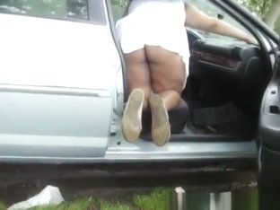 Cleaning the car