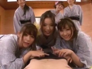 Hottest Japanese whore Megu Fujiura, Risa Kasumi, Ai Haneda in Incredible Babysitters, Strapon JAV.